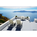 The sea view terrace at luxury hotel, Santorini island, Greece 64239