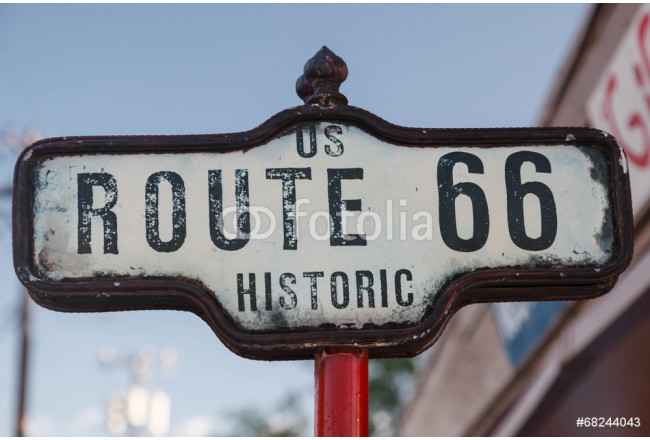 Sign of Historic Route 66 in Arizona 64239