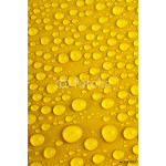 Water drops on yellow background 64239