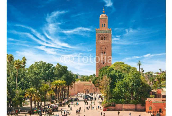 Main square of Marrakesh in old Medina. Morocco. 64239
