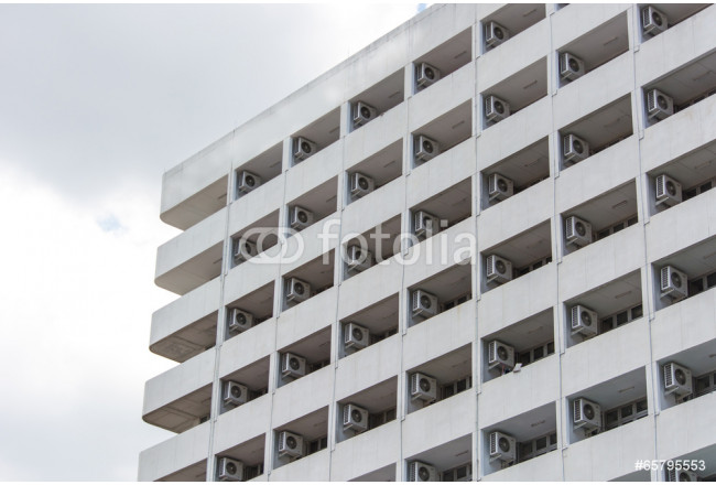 building with air condition in a row 64239