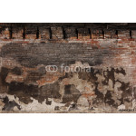 Burned Plaster and Brick Wall 64239