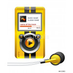 mp3 player yellow 64239