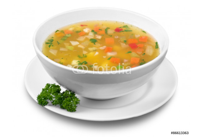 Soup, Vegetable Soup, Bowl. 64239