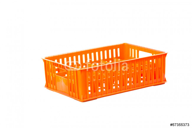 foldable  plastic storage box on a white background 64239