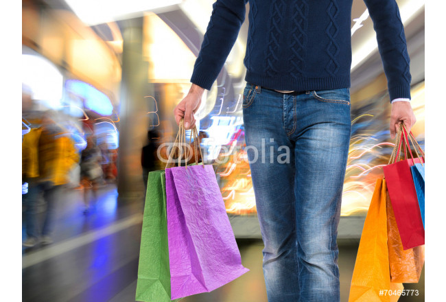 Man with shopping bags 64239