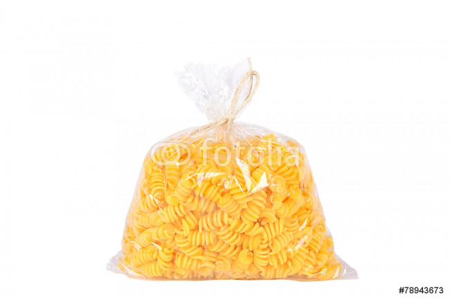 Pack of pasta isolated on white background 64239