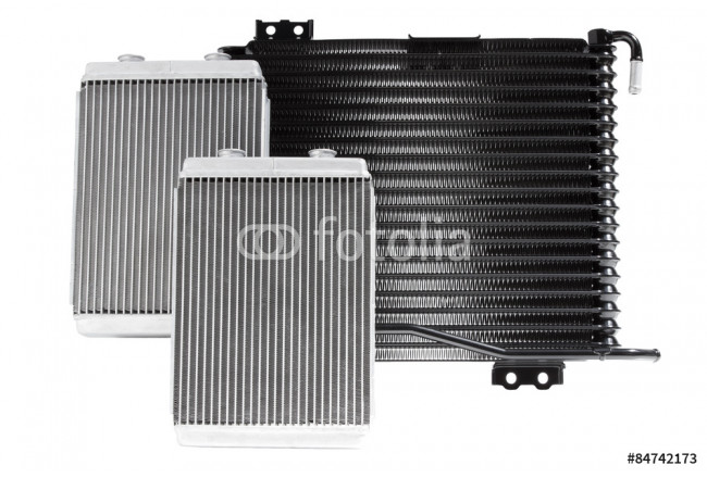 car radiator heater isolated on white background. spare cooling system of internal combustion engine 64239