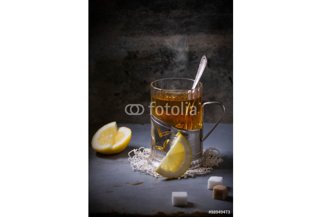 Cup of tea with lemon 64239