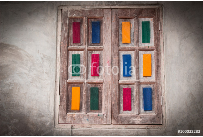 Obraz nowoczesny Wooden doors decorated with beautiful colors. 64239