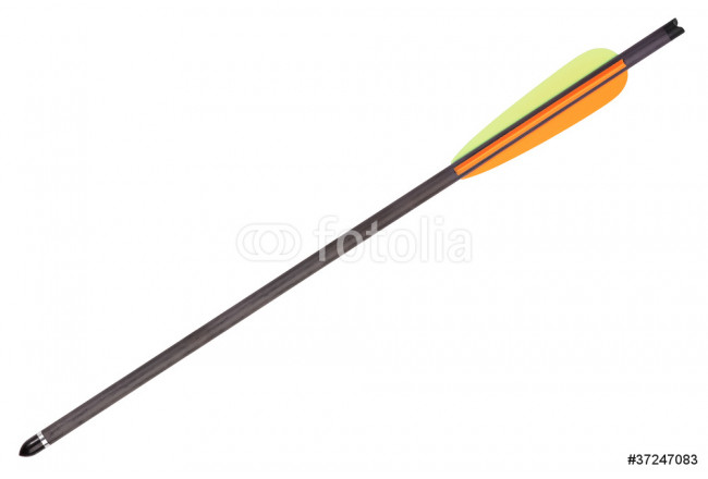 Black Arrow for Crossbow with colored feathers 64239