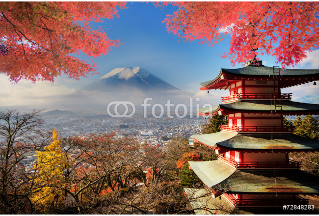 Mt. Fuji with fall colors in Japan. 64239