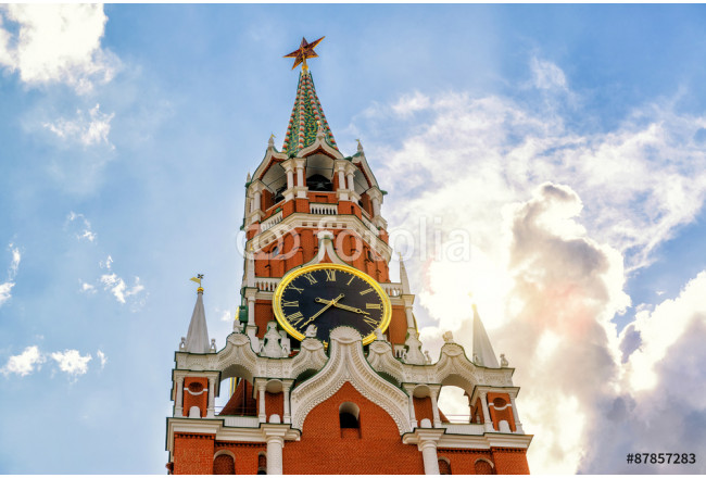 The famous Spasskaya tower of Moscow Kremlin 64239