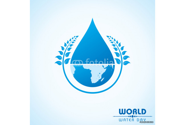 Cuadro decorativo Creative World Water Day Greeting stock vector 64239