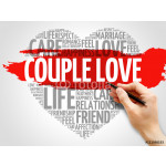 Couple love concept heart word cloud 64239