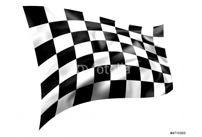 Rippled black and white chequered flag 64239