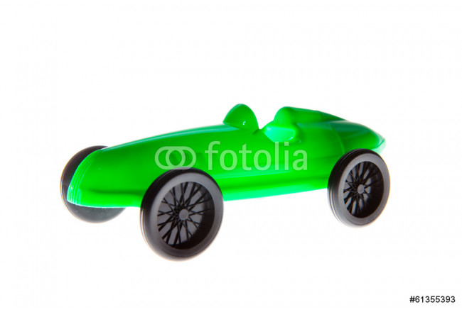 Green Toy Car isolated on white 64239