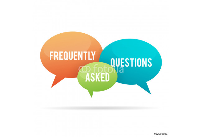 Frequently Asked Questions Talk Bubble 64239