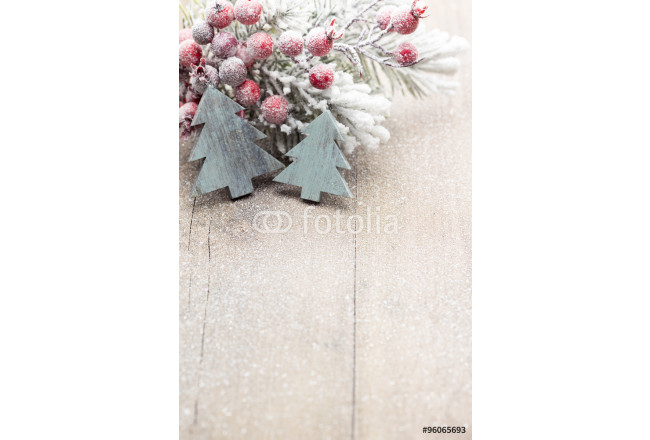 Christmas decoration over wooden background. 64239