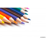 Colorful pencils, isolated on white 64239