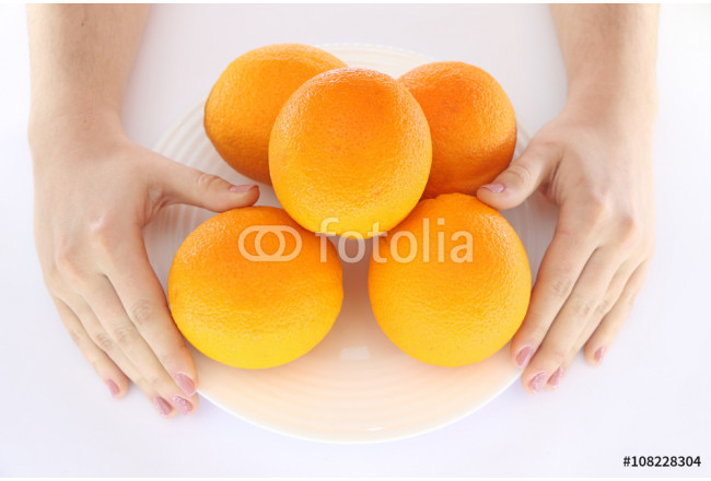 oranges in bowl and hand with them 64239