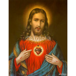 typical catholic image of heart of Jesus Christ 64239