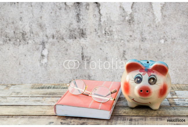 Obraz nowoczesny Notebook glasses and coffee cup on wooden table with blur backgr 64239