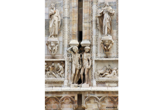 Obraz nowoczesny Details on Duomo cathedral in Milan, Italy 64239