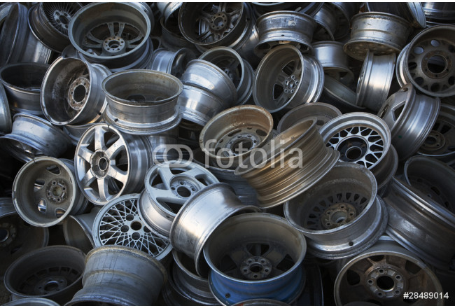 Old Metal Wheels ready for Recycling 64239