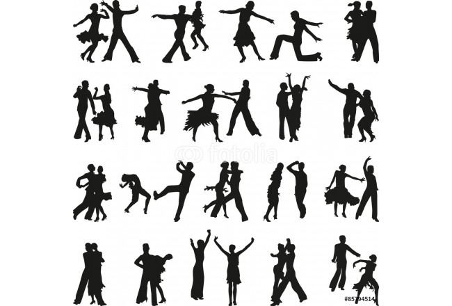 dance people silhouette vector 64239