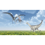 Quetzalcoatlus attacks a Camarasaurus 64239