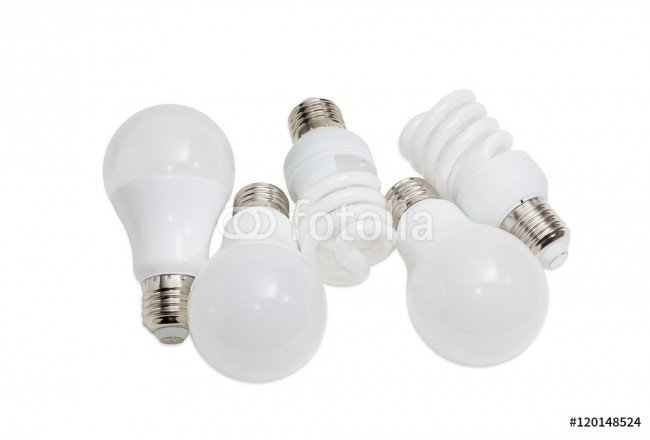 Various energy saving electric lamps of different types 64239