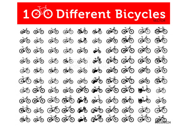 100 Different Bicycles 64239