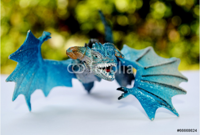 Toile déco blue dragon flying   (toys) 64239