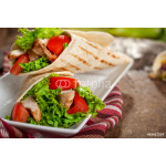Wrap sandwiches with chicken and vegetables 64239