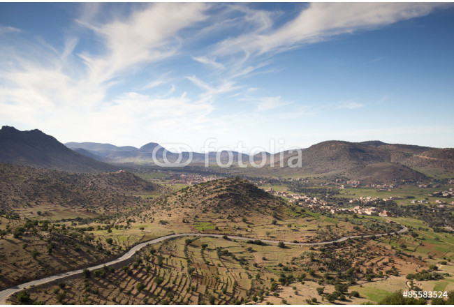 lush valley mountain landscape morocco 64239