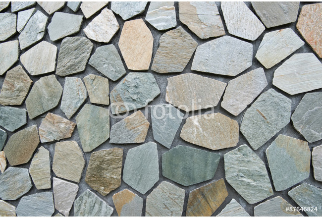 hand made rustic rock wall 64239