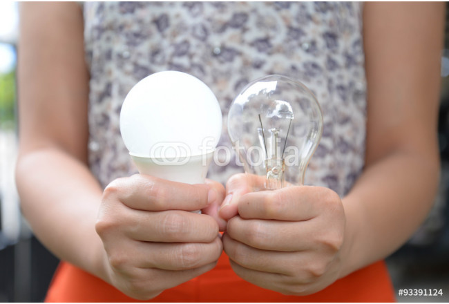 LED and Incandescent bulbs - Choice of energy 64239