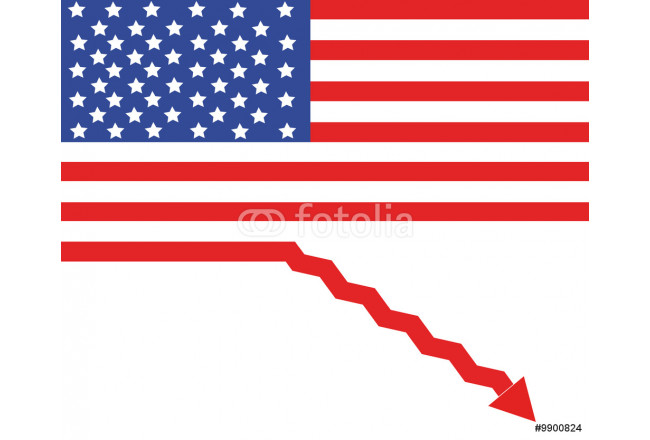 USA flag as a sign of recession 64239