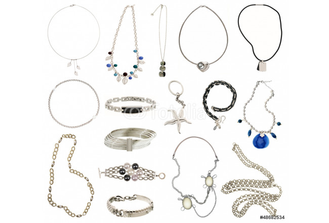 collection of silver jewelery 64239