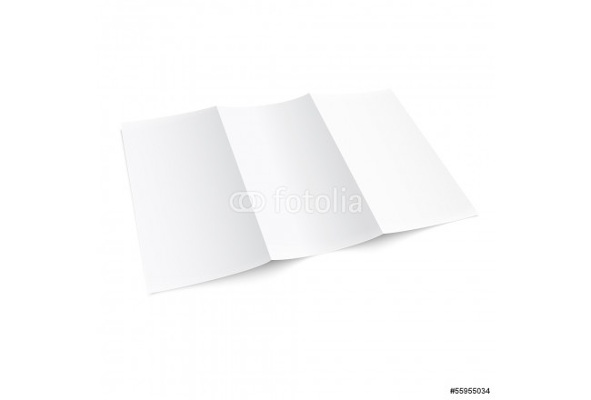 Blank trifold paper brochure. 64239