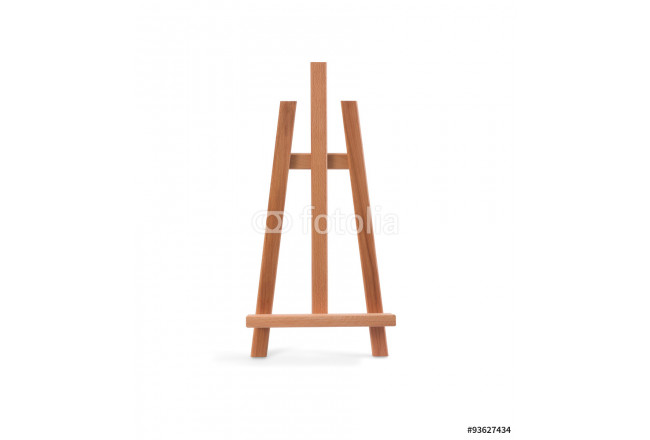 Wooden painter easel isolated on white 64239