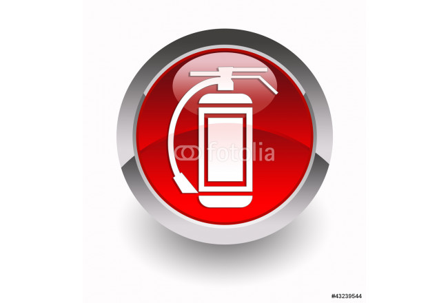 """Fire extinguisher"" glossy icon 64239"