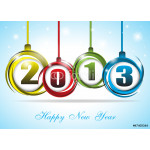 Cute and colorful card on New Year 2013 64239