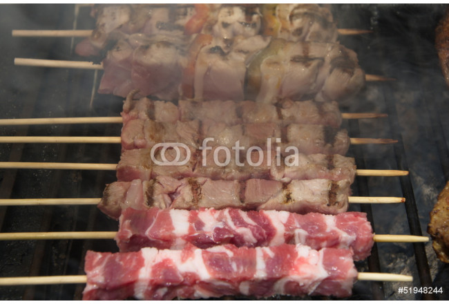 Arrosticini, typical sheep's italian meat 64239