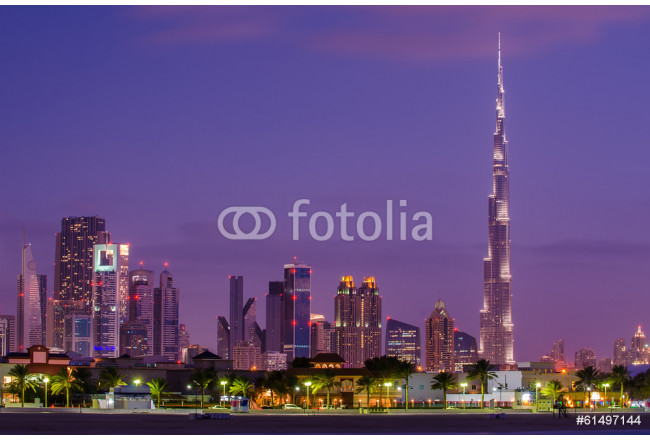 Downtown of Dubai (United Arab Emirates) in the sunset 64239