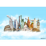 World Travel in Sky Concept 64239