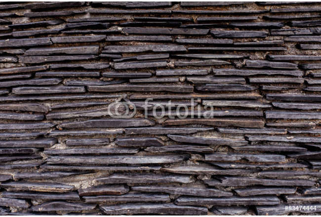 Close up of a brick-wall, Modern black stone texture background. 64239