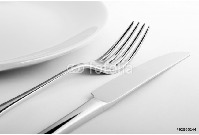 Empty plate with fork and knife - Piatto vuoto con forchetta e coltello 64239