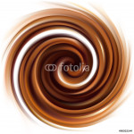 Vector background of swirling creamy chocolate texture 64239